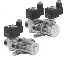 4/2, 5/2 и 5/3 ходовые распределительные клапаны ASCO, непрямого действия, с одним/двумя соленоидами