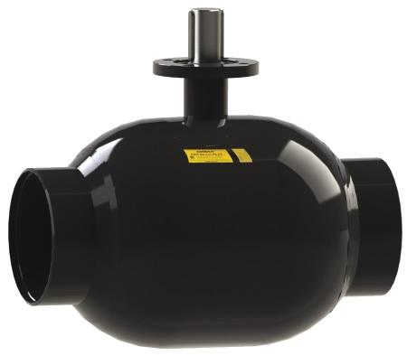 Стальной шаровой кран «Бивал» серии КШГ 14, 15 со стандартным штоком, присоединение сварное, с/с