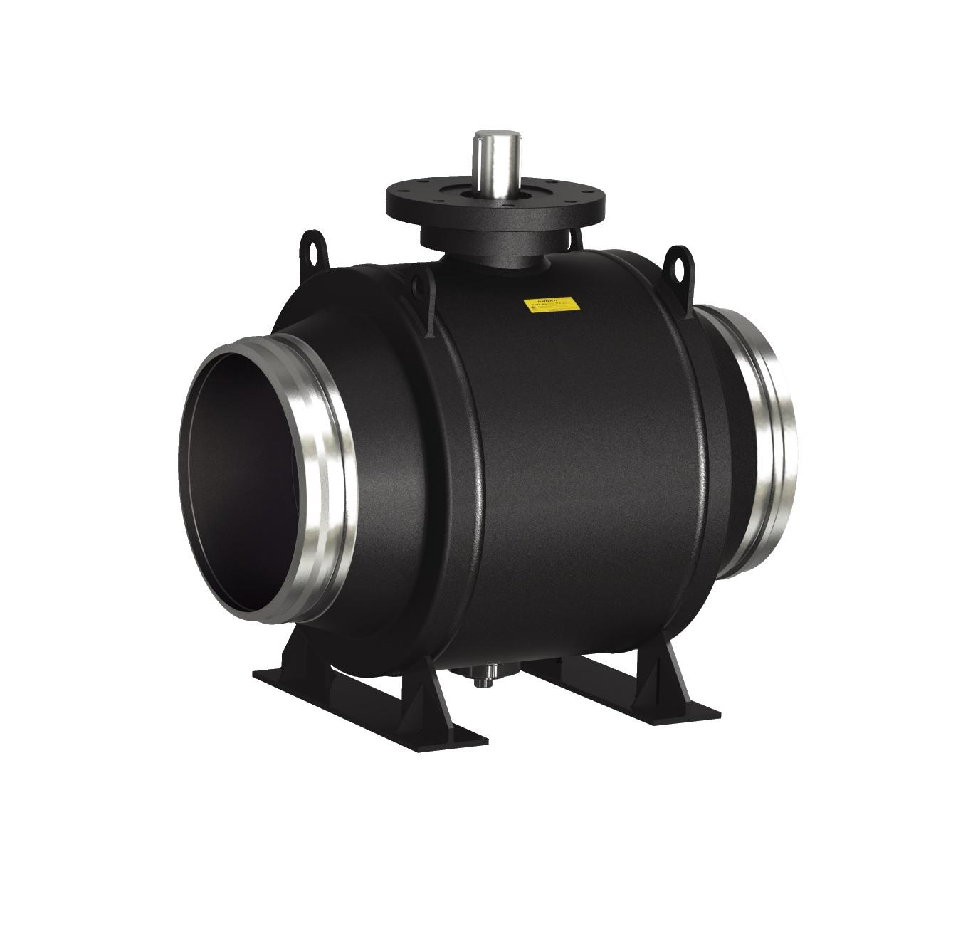 Стальной шаровой кран «Бивал» серии КШГ 14 со стандартным штоком, присоединение сварное, с/с