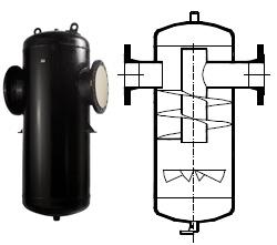 Центробежный сепаратор пара и сжатого воздуха «Гранстим» СПГ25