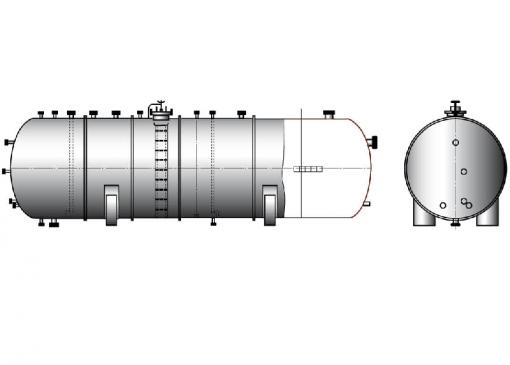 Cocyды цилиндрические горизонтальные