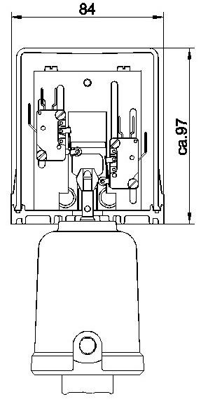 Концевой выключатель для пневматических поршневых приводов серия 9010