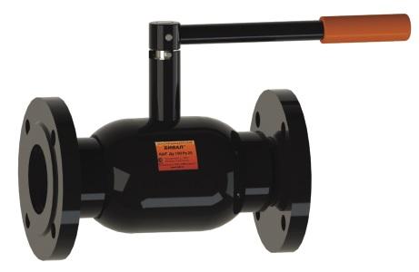 Стальной шаровой кран «Бивал» серии КШТ 15 со стандартным штоком, присоединение фланцевое, ф/ф
