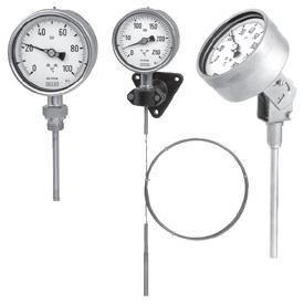 Манометрические термометры (инертный газ)