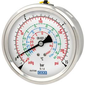 Манометры для измерения избыточного давления с трубкой Бурдона