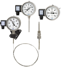Механические термометры с нормальным электрическим сигналом