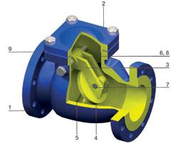 Обратный клапан поворотный V302
