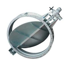 Поворотные шиберные затворы Orbinox для дымовых газов, серия ML