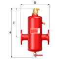 Принцип действия сепараторов воздуха Flamcovent