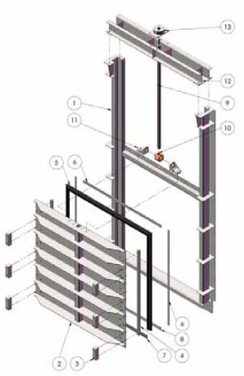 Прямоугольные щитовые затворы серии MU