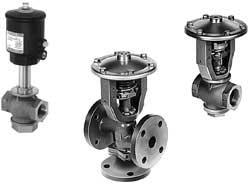 Распределительные клапаны с гидропневмоприводом для нейтральных и агрессивных жидкостей и газов, воды и водяного пара