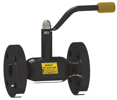 Стальной шаровой кран «Бивал» серии КШГ 15 со стандартным штоком, присоединение фланцевое, ф/ф