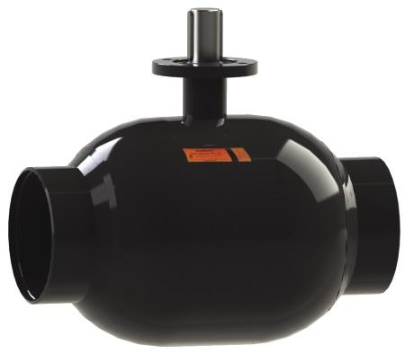 Стальной шаровой кран «Бивал» серии КШТ 14, 15 со стандартным штоком, присоединение сварное, с/с