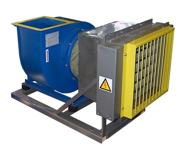 Электрокалориферная установка СФОЦ 25/2500 с установленной мощностью 25 кВт