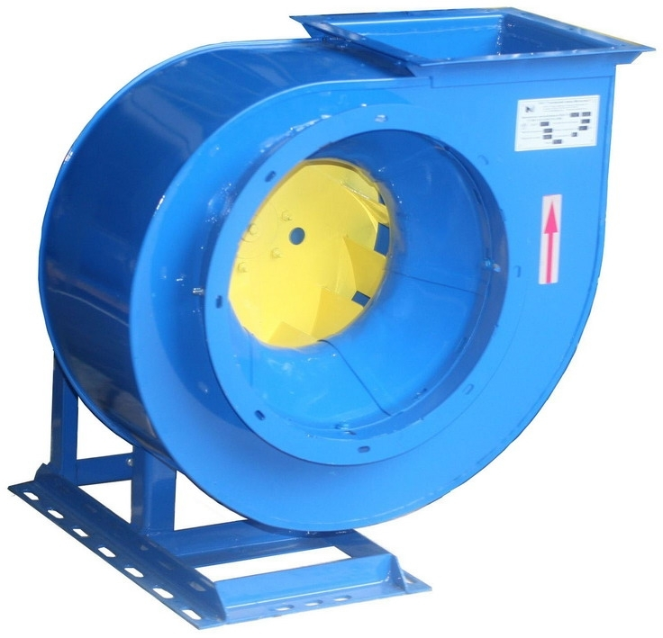 Вентилятор центробежный ВЦ4-75-10; ВЦ4-75-10К1. C типоразмером двигателя АИР180М6, 975 об/мин