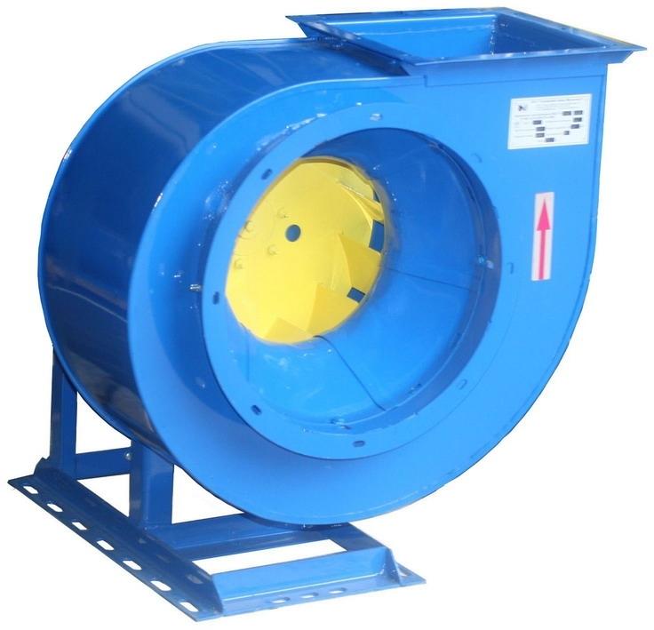 Вентилятор центробежный ВЦ4-75-4; ВЦ4-75-4К1. C типоразмером двигателя АИР63А6, 860 об/мин