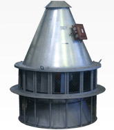 Вентилятор крышной дымоудаления ВКРМ-12,5Ду. C типоразмером двигателя АИР160M12