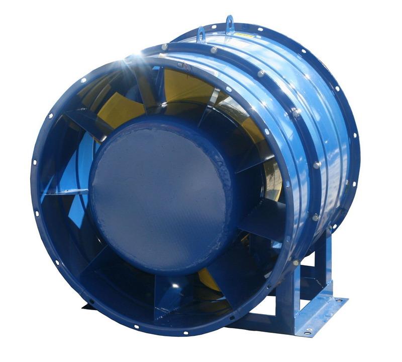 Вентилятор осевой подпора воздуха ВО 25-188 с типоразмером № 9 C углом установки лопаток колеса 35 градусов и направляющего аппарата 10 градусов