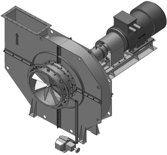 Вентилятор мельничный ВМ-18. Мощностью 500 кВт Скорость вращения 1500 об/мин