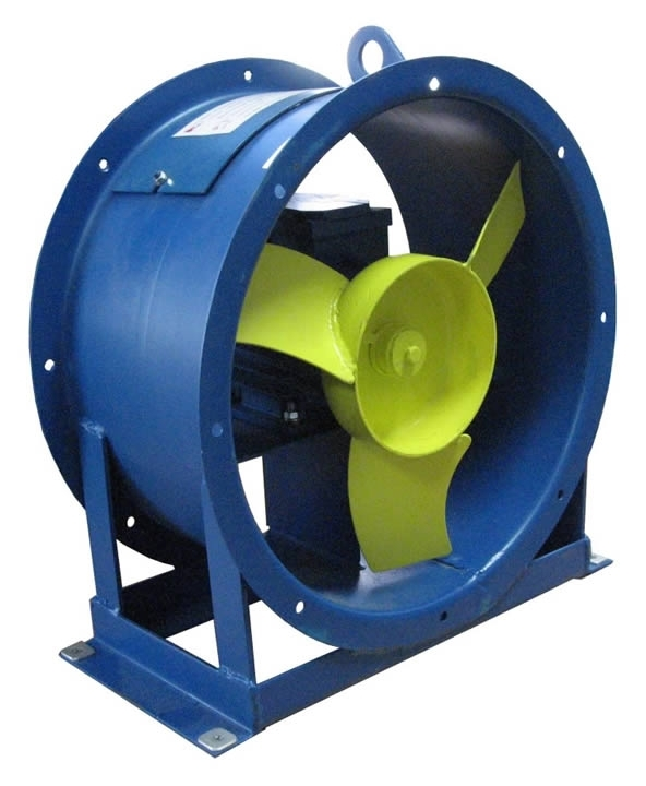 Вентилятор осевой ВО-06-300-4; ВО-06-300-4K1 с электродвигателем АИР80А6