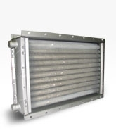 Воздухонагреватель типа ВНВ - ВНП 113-309. Производительность по теплу 82,12/98,54 кВт