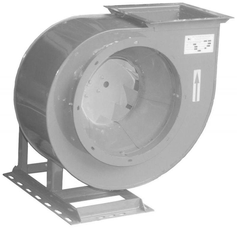 Вентилятор радиальный для дымоудаления ВР 80-46-5ДУ-01; ВР 80-46-5ДУ-02 с электродвигателем АИР90L4, 5,0-9,5 х10м/ч